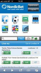 NordicBet mobile spil uden NemID