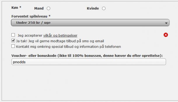 NordicBet voucherkode