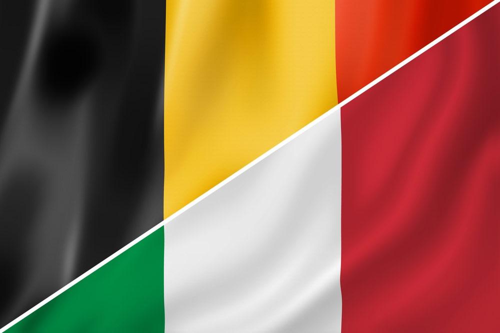 Belgien-Italien-flag