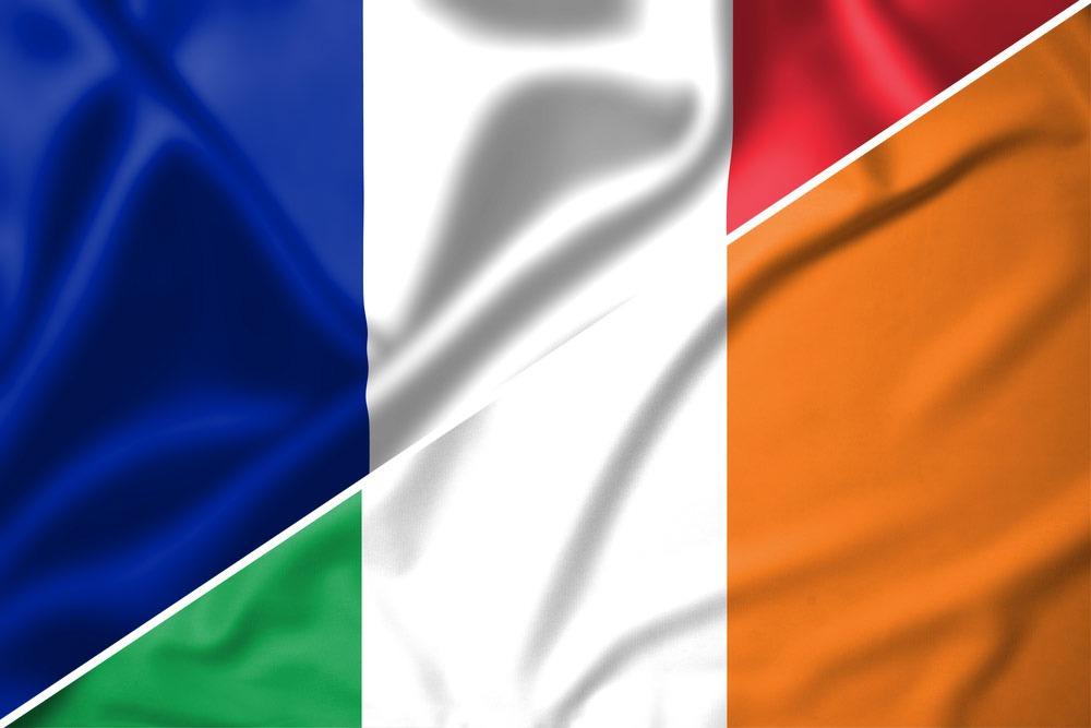 Frankrig-Irland-flag