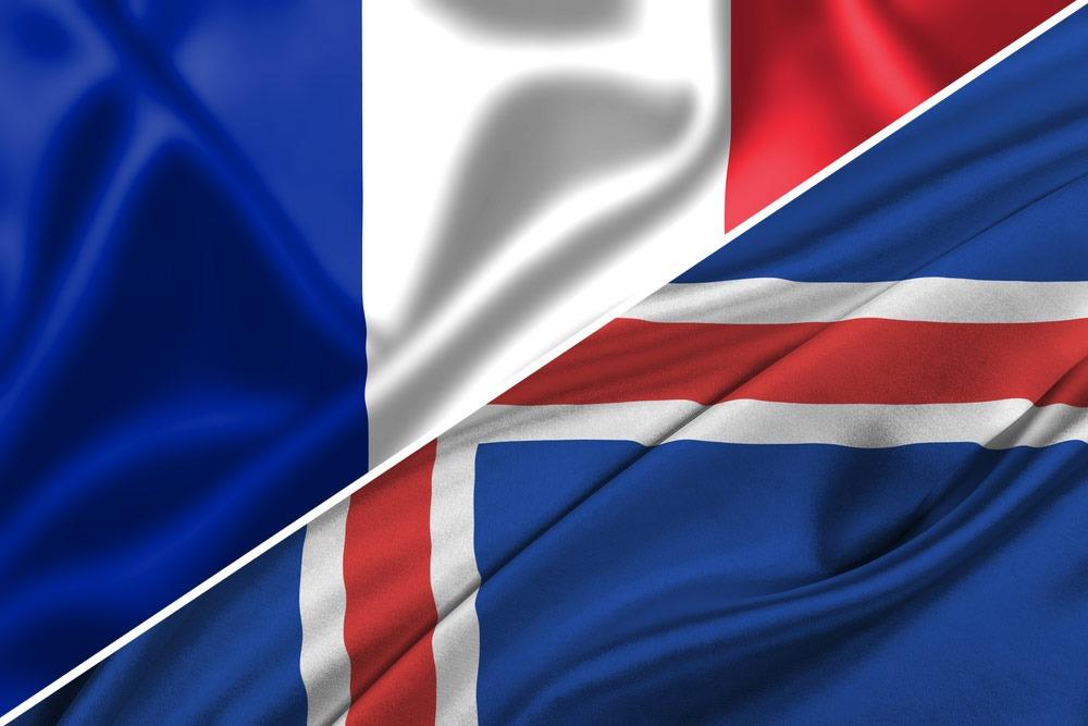 Frankrig-Island-flag