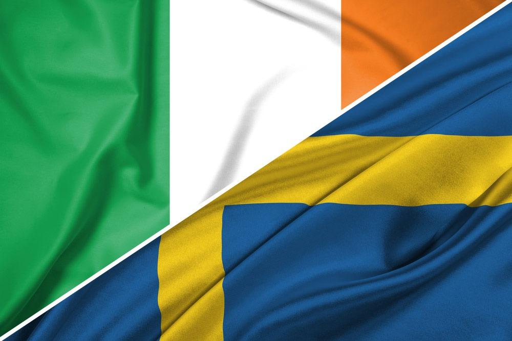 Irland-Sverige-flag