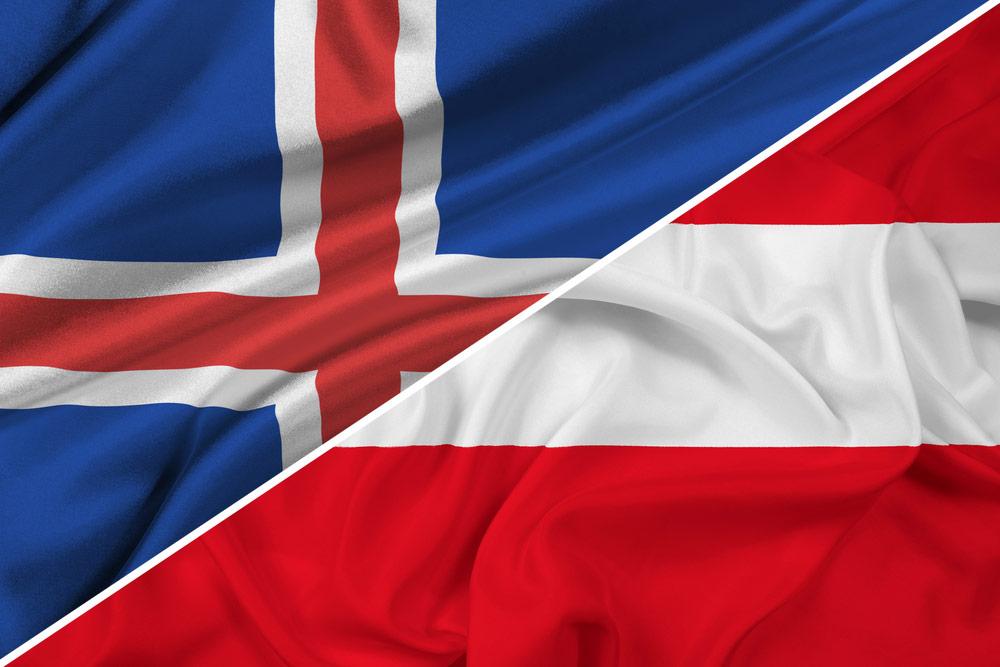 Island-Østrig-flag