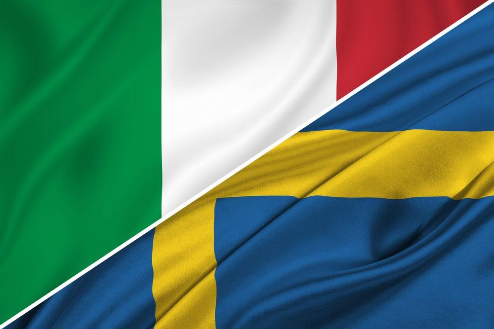 Italien-Sverige-flag