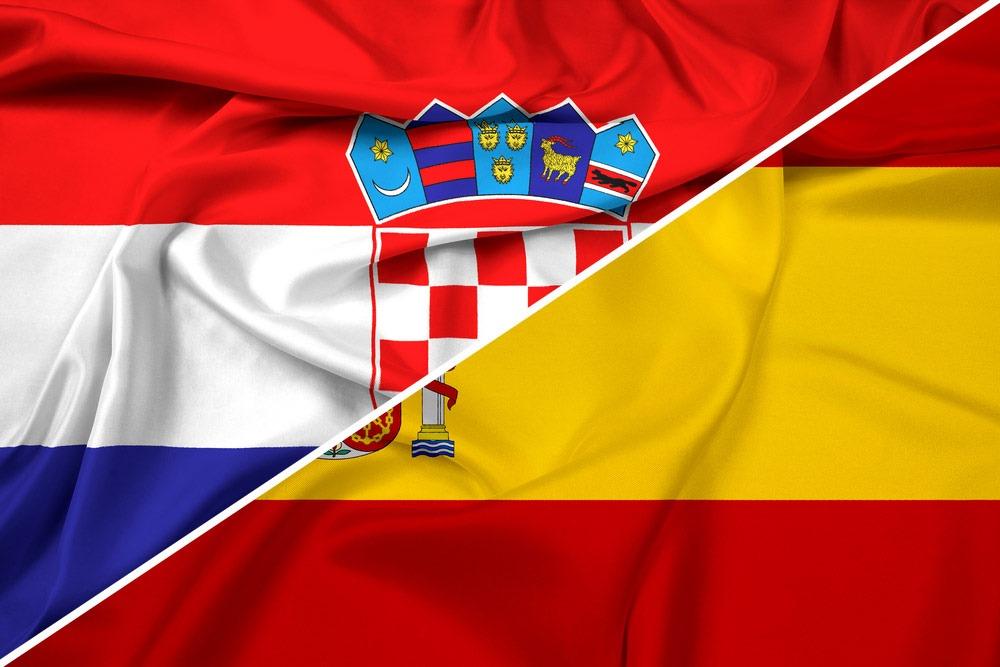 Kroatien-Spanien-flag
