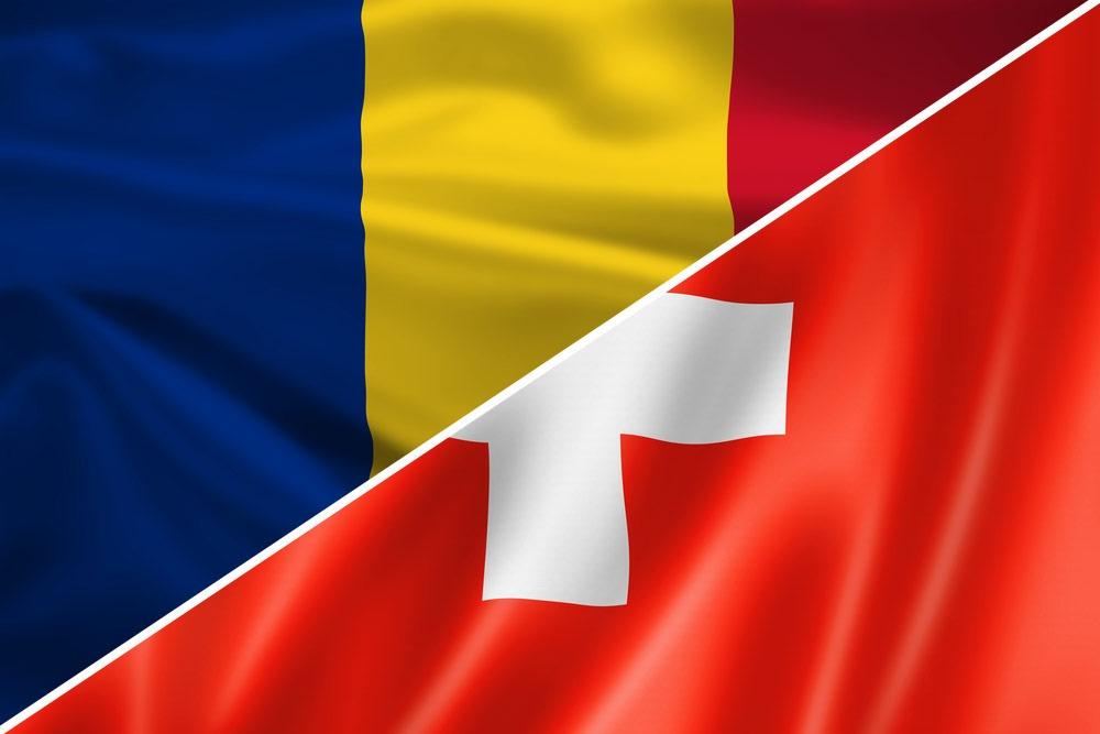 Rumænien - Schweiz flag