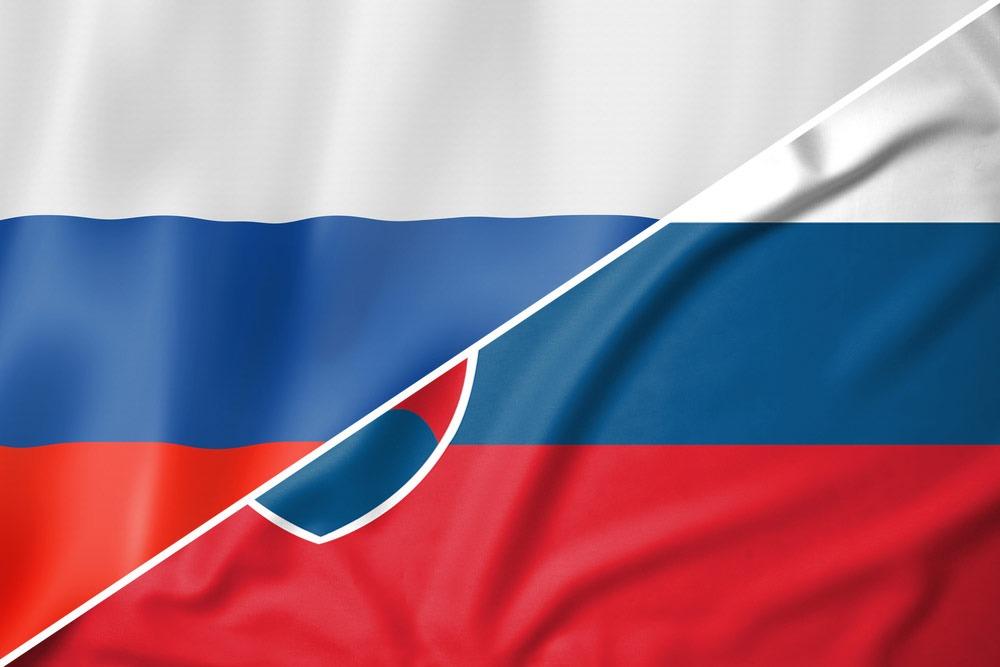 Rusland-Slovakiet-flag