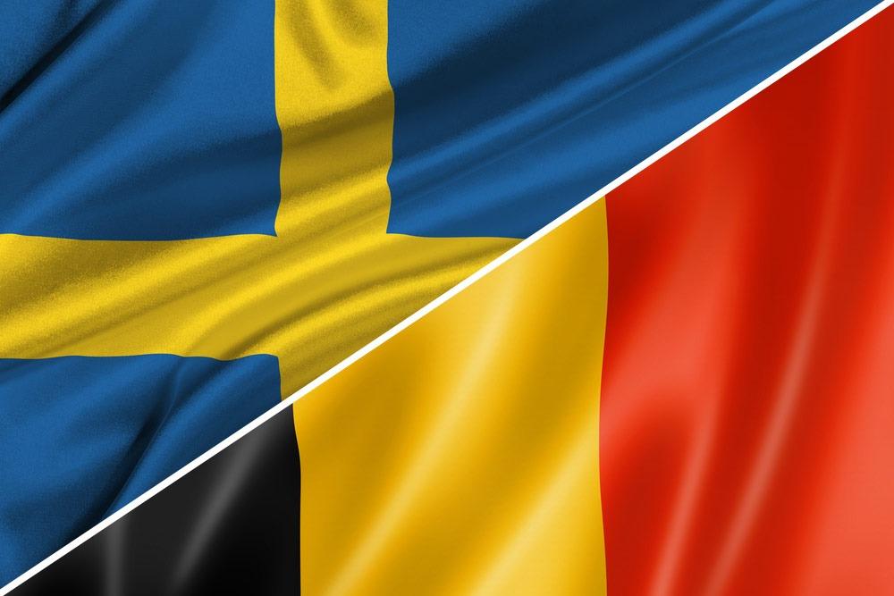 Sverige-Belgien-flag