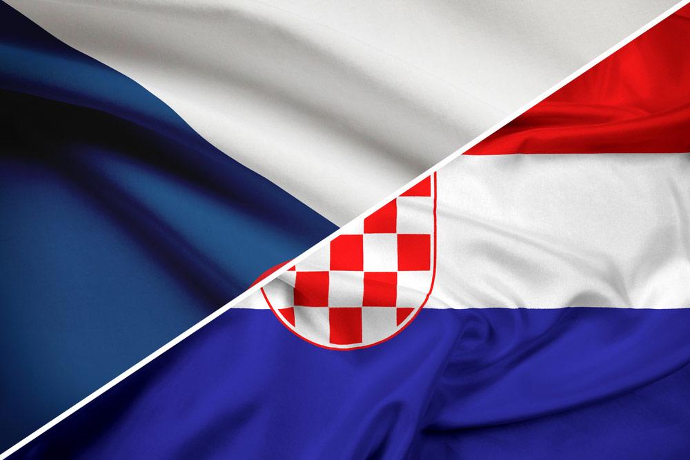 Tjekkiet-Kroatien-flag