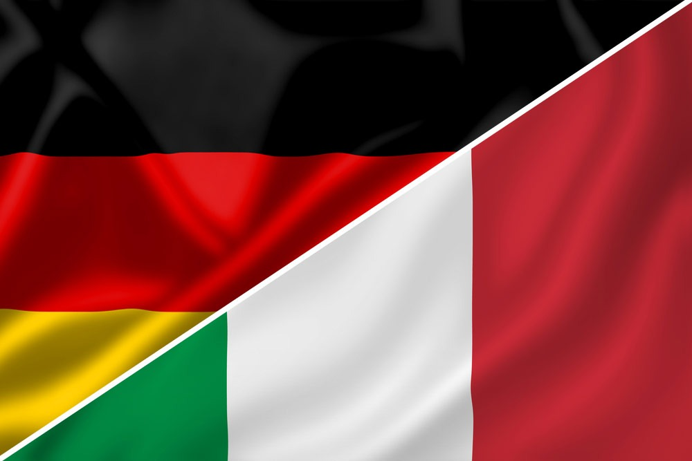 Tyskland-Italien-flag