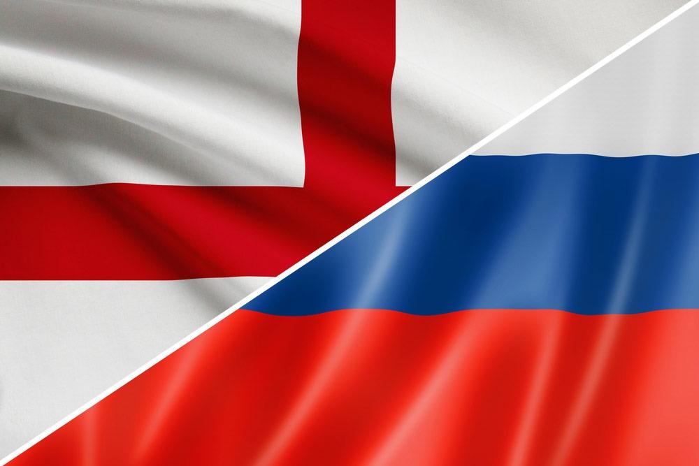 england-rusland-flag